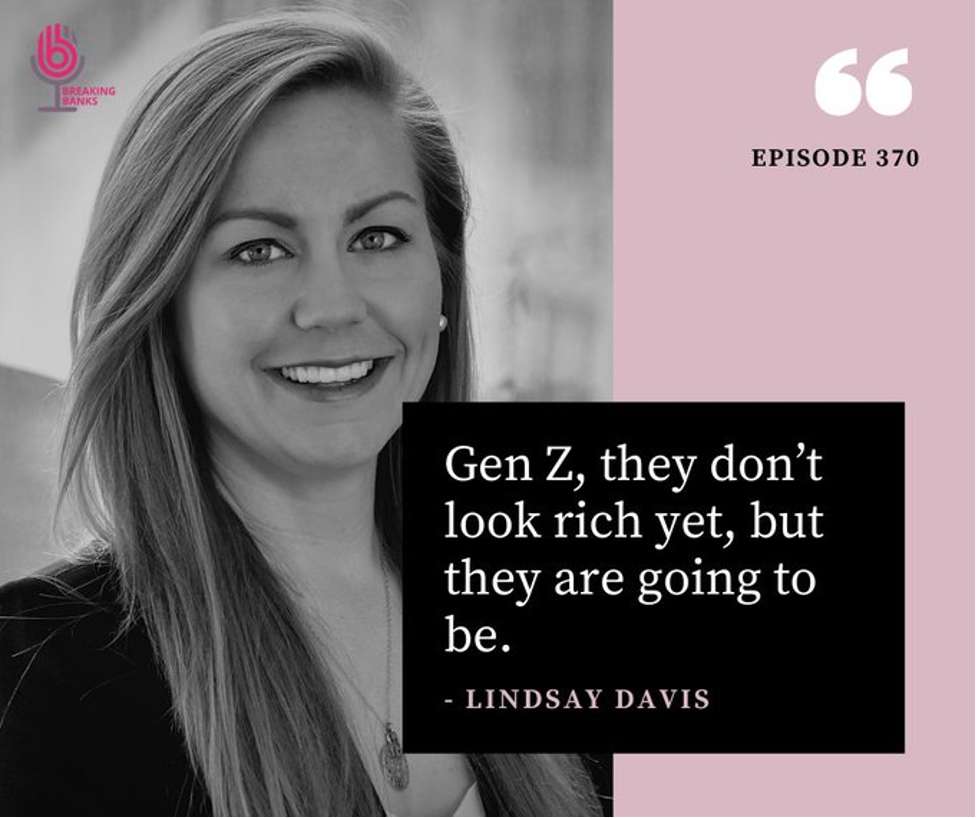 """lindsay davis on gen z: """"they don't look rich yet, but they are going to be."""""""